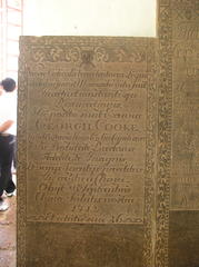 St Pauls Church Memorial to George Cooke 1676  1712