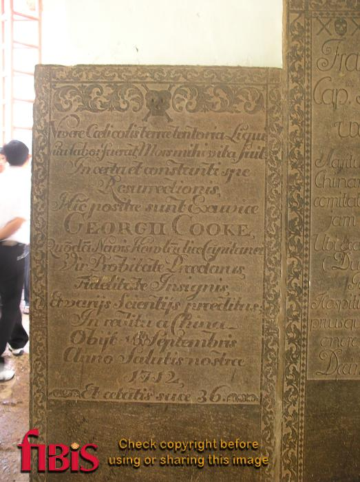 St Pauls Church  Memorial to George Cooke 1676  1712.JPG